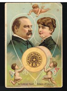 1886-Victorian-Trade-Card-034-Merrick-Thread-Co-034-W-Man-amp-Woman-in-Thread-Heart