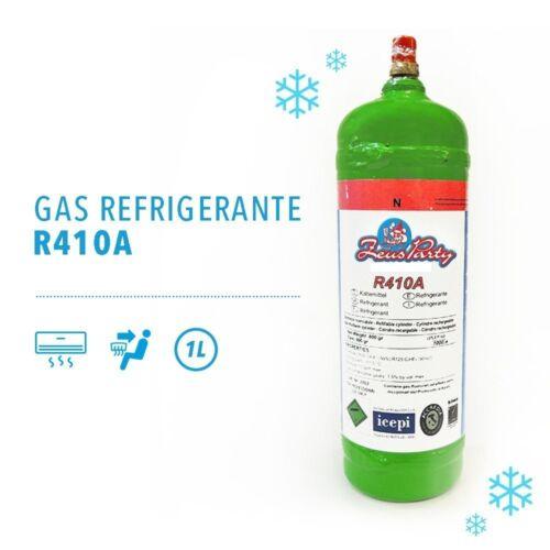RICARICABILE SENZA RESO BOMBOLA GAS REFRIGERANTE R410A DA 1 KG NETTO 800 GR