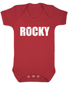 Rocky balboa baby vest baby shower christening new born baby clothes