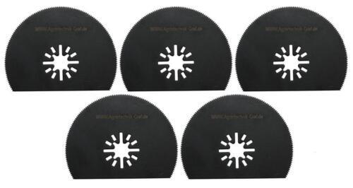 Bosch GOP 5 er Set Segmentsägeblatt 80 mm halbrund für Holz,Plastik pas