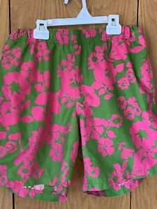 b03796240b JCREW Mens Swim Trunks; Tropical Flowers, Pink & Green, Size L, 7.5 ...