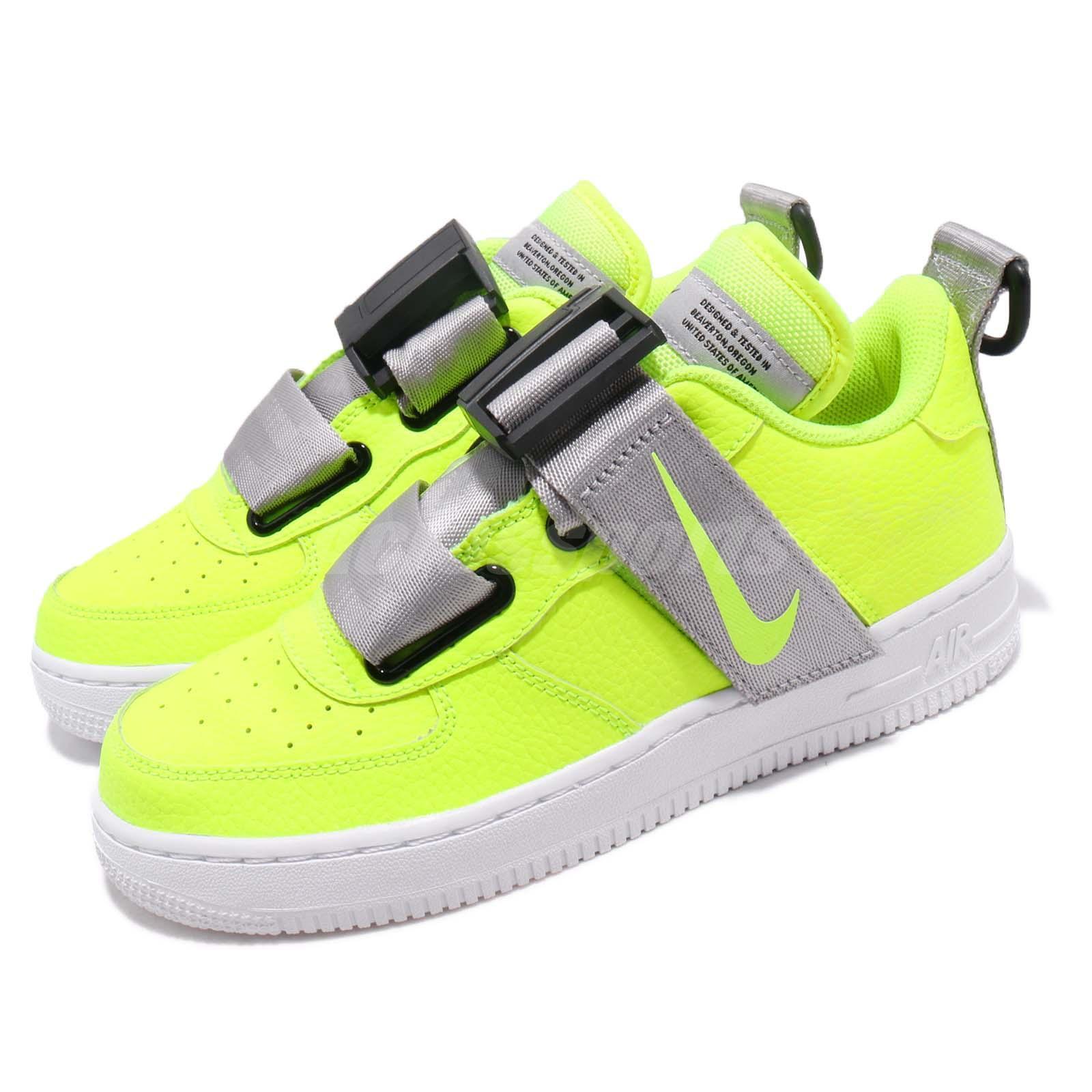 Nike Air Force 1 Utility Utility Utility GS AF1 Volt Reflect plata Kid Youth mujer AJ6601-700  están haciendo actividades de descuento