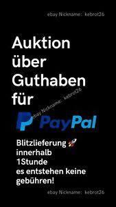 Paypal Guthaben übersicht