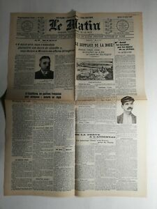 N443-La-Une-Du-Journal-Le-Matin-13-aout-1907-le-supplice-de-la-boue