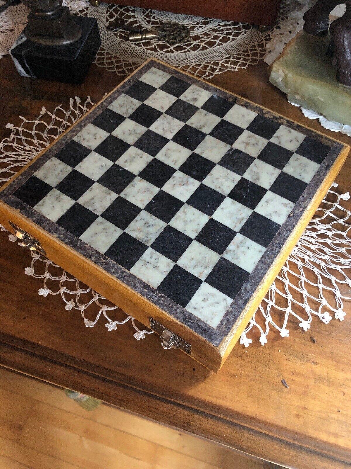 ♟Schach aus aus aus Granit    Reise - Schach  20 x 20cm  Granit - Figuren     NEU  TOPP fcac30