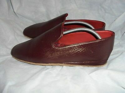 Slippers Samuel Windsor Men's Burgundy Leather Slippers Size Uk 13 Eu 47 Vgc Clothing, Shoes & Accessories