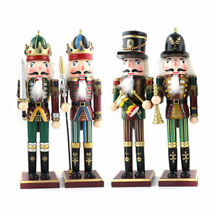 image is loading set of 4 christmas decoration wooden soldier prince