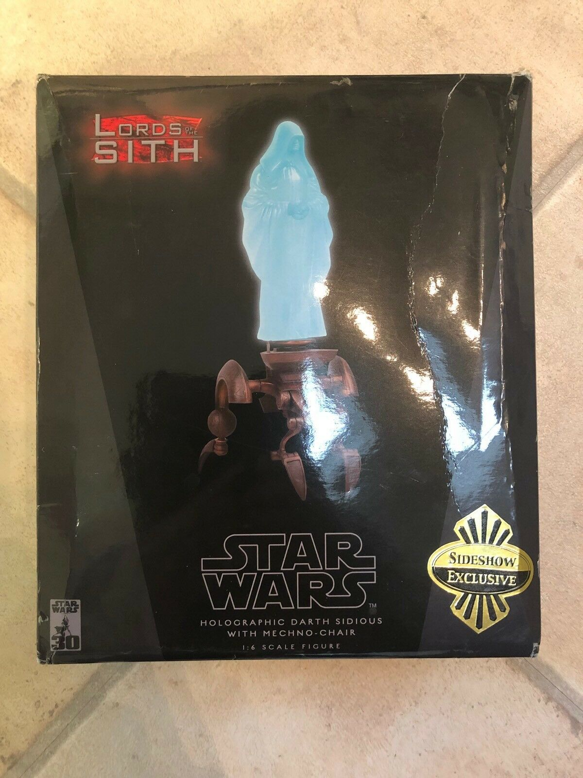 Sideshow Holográfico De Estrella Wars Darth Sidious con mechno-silla exclusivo C1017