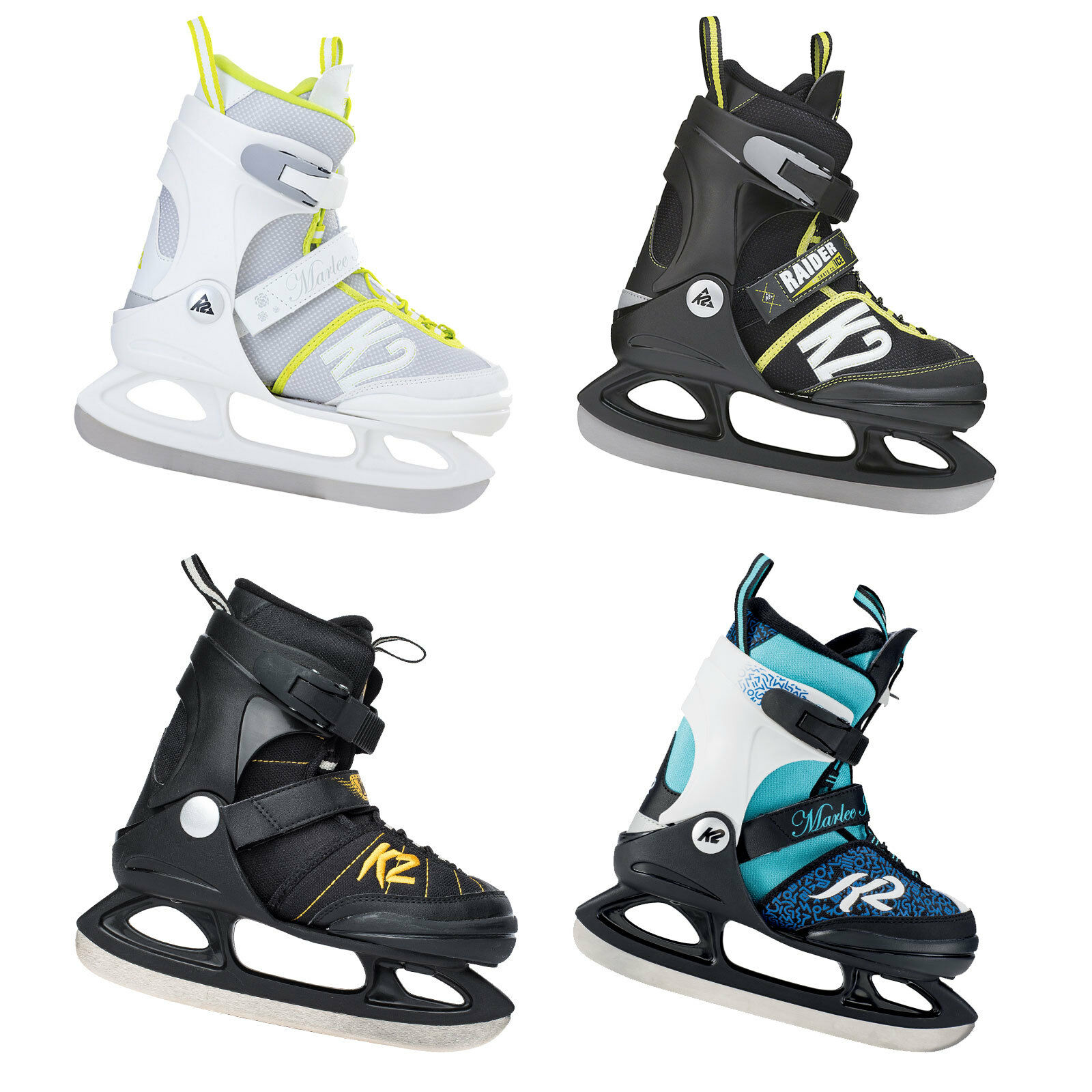 Bleu Pointure K2 Skates Marlee Ice Patins /à Glace pour Fille Camouflage