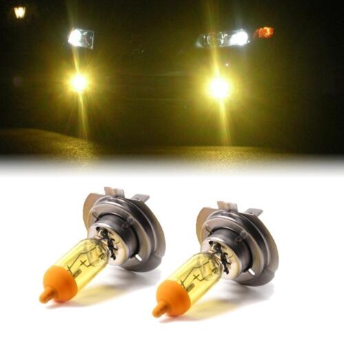 YELLOW XENON H7 HEADLIGHT LOW BEAM BULBS TO FIT MG MG ZR MODELS