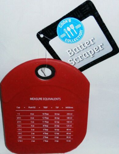 SILICONE BATTER SCRAPPERS W// MEASURE EQUIVALENTS