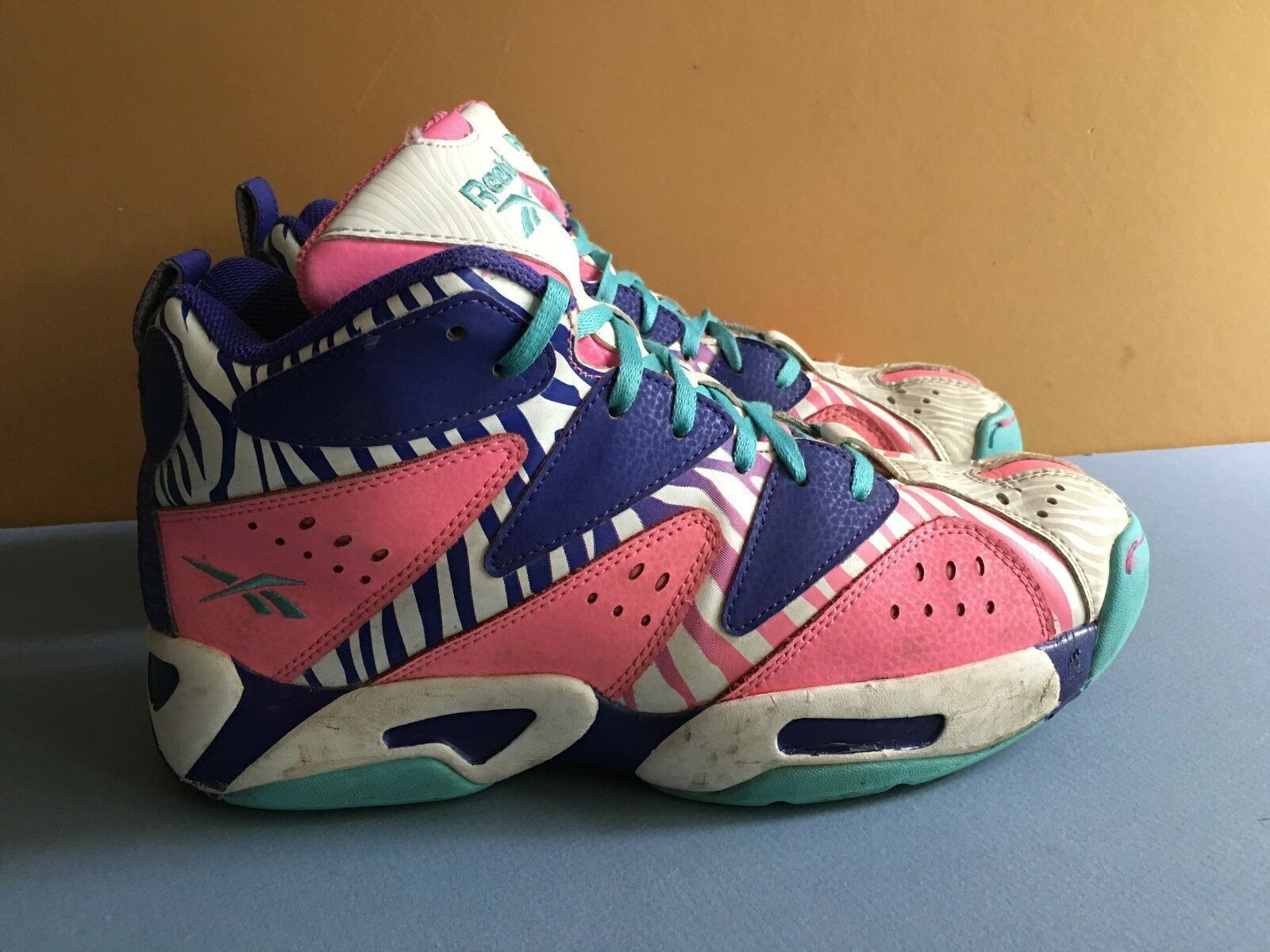 REEBOK KAMIKAZE  Zebra Craze Women's 7 Sneakers Kicks Shoes RARE
