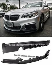 For 14-Up BMW F22 235i M235i M Performance Style Front Bumper Lip Rear Diffuser