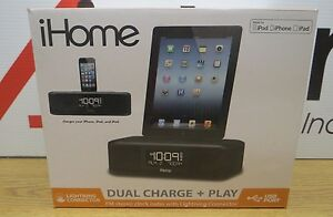 iHome-Dual-Charge-Play-FM-Stereo-Clock-Radio-With-Lightning-Connector-V70