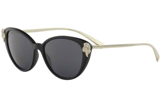 37933b8fc957 Versace 4351b Sunglasses Gb1 87 Black 100 Authentic for sale online ...
