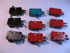 Limit-Micro-Switch-Sensor-Grab-Bag-Assorted-Mfg-and-Types-Used-Qty-9