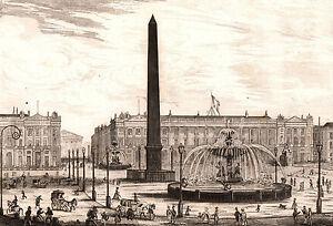 Gravure-XIXe-Obelisque-de-Louxor-Egypte-Paris-Place-de-la-Concorde-1848