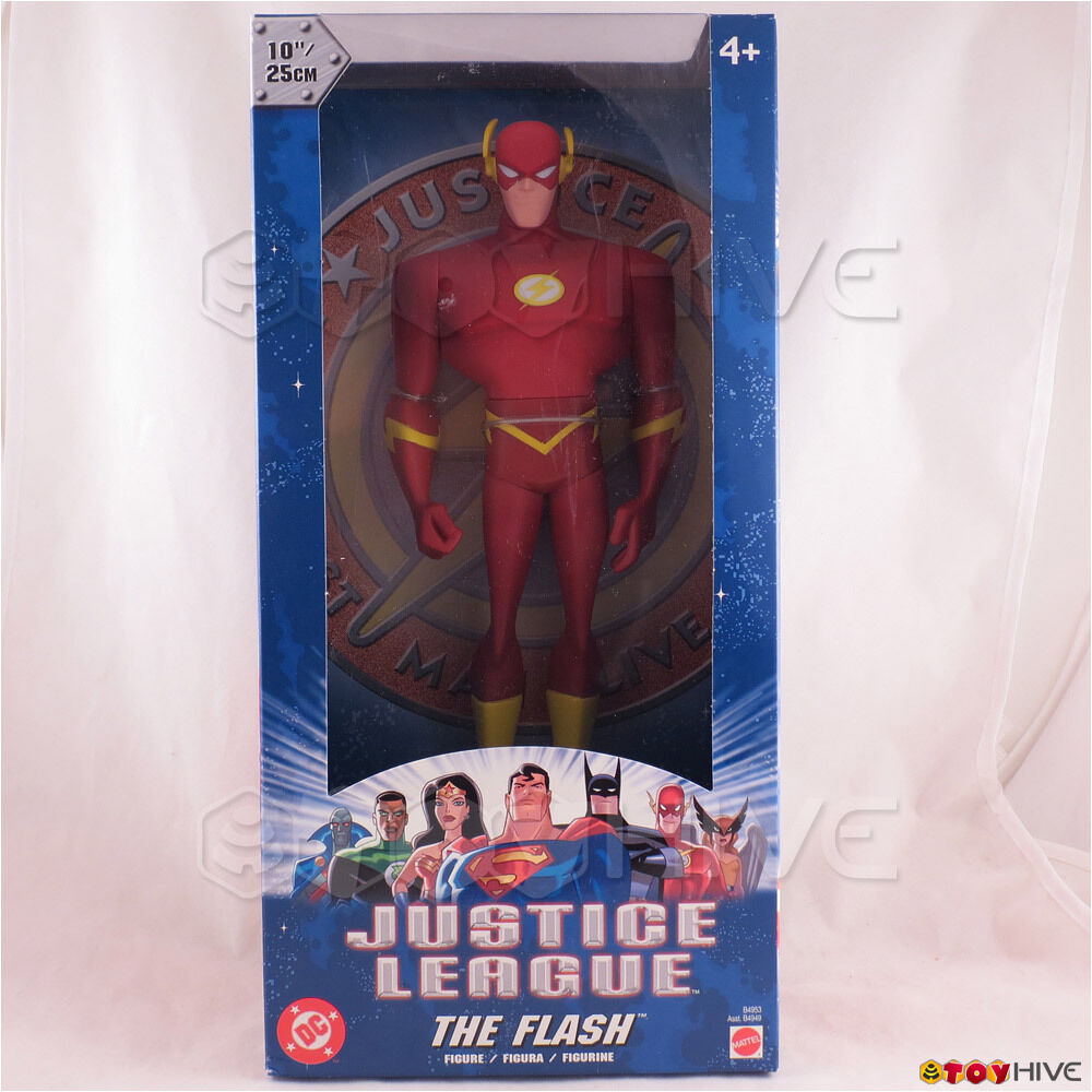Justice League Unlimited The Flash 10 inch vinyl figure DC JLU sealed Blau box