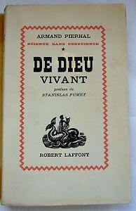 De-Dieu-Vivant-EO-1946-Envoi-manuscrit-Armand-PIERHAL-Ex-Presse-N-48-100-Alfa