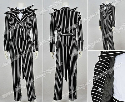 "The Nightmare Before Christmas Cosplay Jack Skellington Stripe Cos/""t"