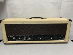 Vintage-Ampeg-VH-140C-2-Channel-Guitar-Amplifier-Head-Chorus-amp-Reverb-Metal-WHS