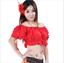Linen Puff Sleeve Blouse Tribal Belly Dance Costumes Yoga Casual Wear Dancewear