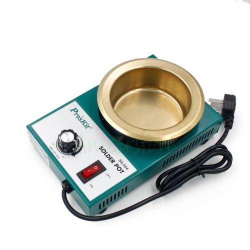 300 W libre de plomo Crisol DE SOLDADURA Horno de fusión de Estaño Desoldadura Baño 100 mm 2.2 kg 220 V