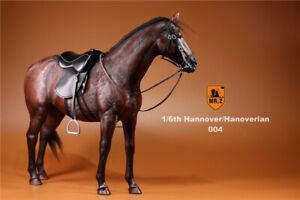 """Mr.Z Brown Germany Hanoverian Horse 1//6th Animal 12/"""" Soldier Figure Race Horses"""