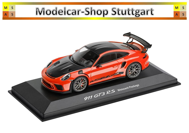 Porsche 911 GT3 Rs Lava Arancione Pacchetto di Weissach Minichamps 1:43