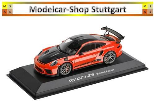 Porsche 911 GT3 RS lavaorange Weissach Package Minichamps 1:43 WAP0201620J neu