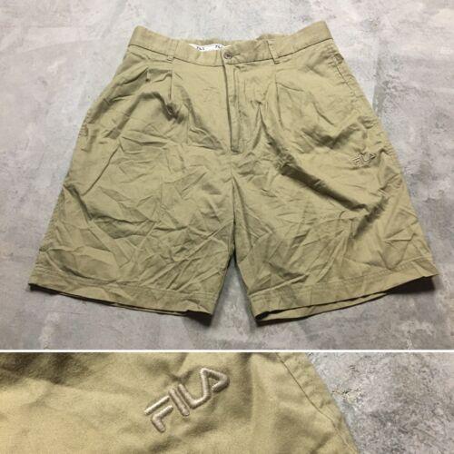 FILA CHINO 90s VTG Tennis Khaki Golf Shorts Size 3