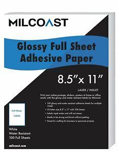 Milcoast-Full-Sheet-8-5-x-11-Shipping-Sticker-Labels-Glossy