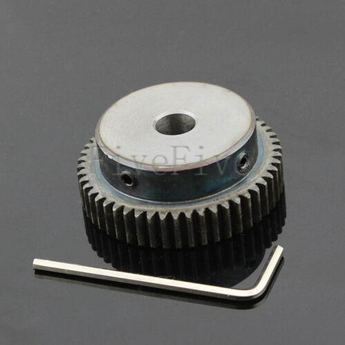 1M50T 6//8//10mm Bore Hole Width 10 Module 1 Motor Metal Spur Gear With Top Screws
