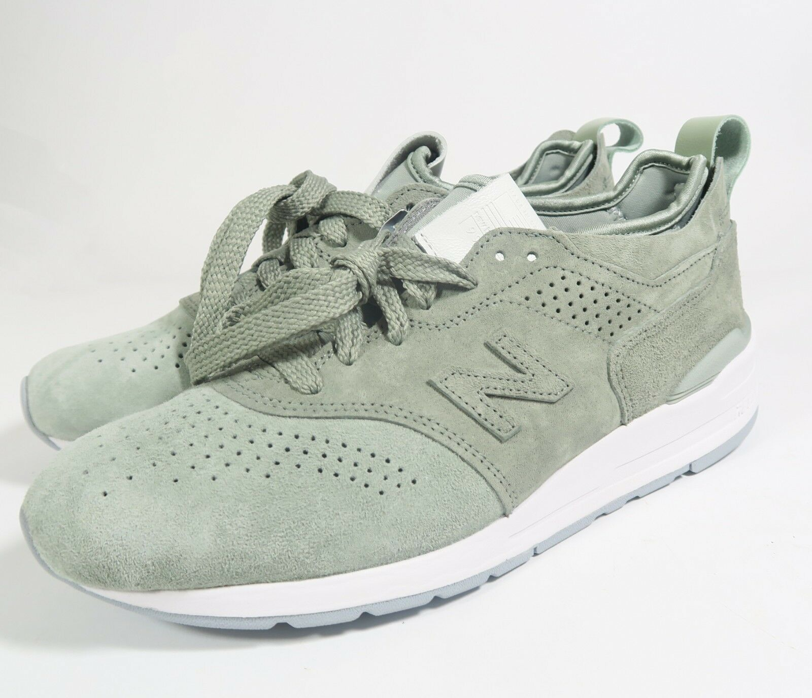 New Balance Mens M997DT2 Made in USA Silver Mint White Size (Choose Size)