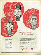 A- Publicité Advertising 1960 Les Montres Longines Jamboree conquest flagship