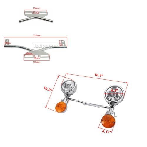 Passing Spot Signals Light Bar For Kawasaki Vulcan 800 900 1500 1600 1700 2000
