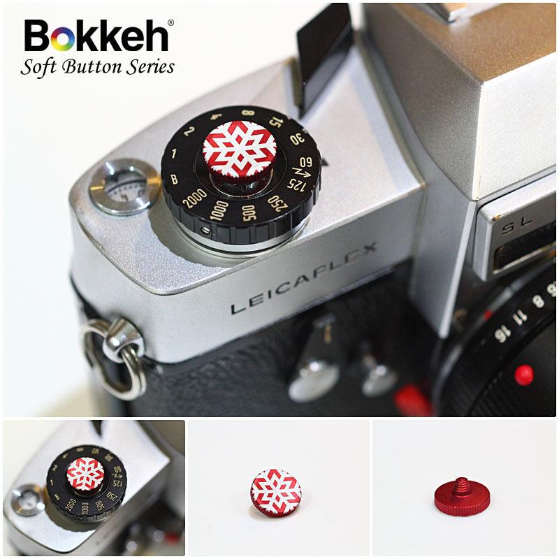 [Snow Red] Bokkeh Small Shutter Soft Release Button Metal Leica M6 M8 Fujifim