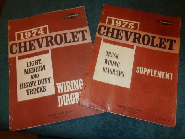 1974 / 1975 CHEVY TRUCK WIRING DIAGRAM SHOP MANUAL SET ...