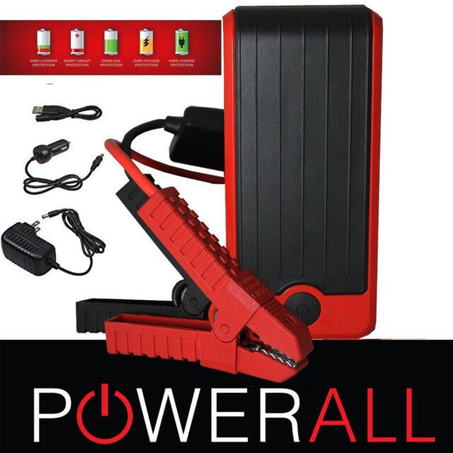 PowerAll PBJS12000RD DELUXE Portable Jump Starter Power Bank LED Flashlight
