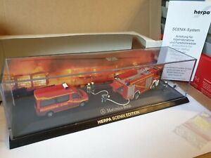 Herpa-scenix-Edition-bomberos-Mercedes-Benz-uso-escena-luz-amp-Sound