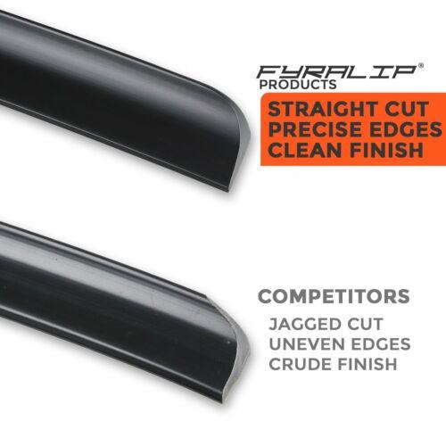 Fyralip Unpainted Rear Trunk Lip Spoiler Wing for Honda Accord 4th 90-93 Black