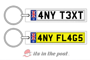 PERSONALISED-GB-NUMBER-PLATE-KEYRING-IDEAL-GIFT-HOUSE-CAR-ANY-FLAG-TEXT