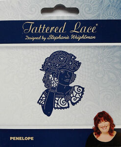 Tattered Lace Dies ANNETTA Vintage Lady Portrait Metal Cutting Die TLD0546