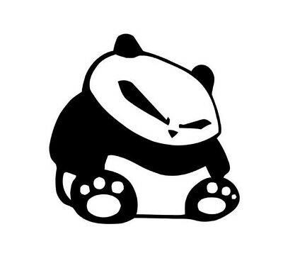 Funny Sad Panda Animal Car Laptop Window Door Bumper Wall Vinyl Decal Sticker