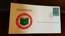 International Olympic Committee First Day of Issue stamp Briefmarke Libyen 1984