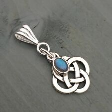 Labradorite Celtic Knot 4 Elements Pendant Wicca Pagan Gothic Ritual witch
