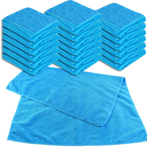 Mikrofaser UNIVERSALTUCH XL blau 20er SET Allzwecktuch 50x70cm Reinigungstuch