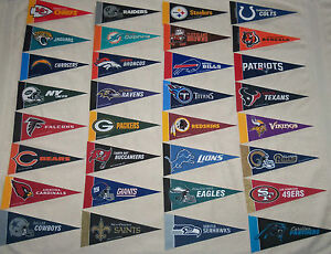 American Football Team Logo Nfl Mini Pennant New All Teams