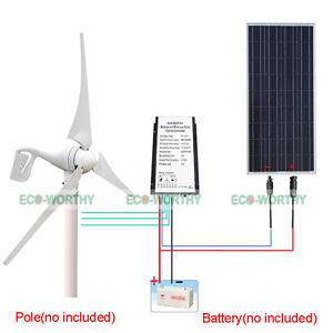 500w 750w Hybrid Kit 400w Wind Turbine Generator 12v