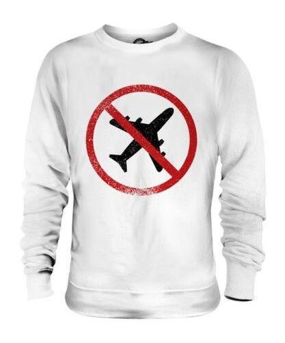 Aerophobia ( Angst vor Flugzeuge) Unisex Pullover Top Geschenk Phobia Flugzeug